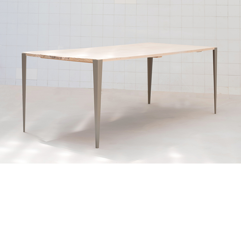 Pied de table metal design for Table design 4 pieds