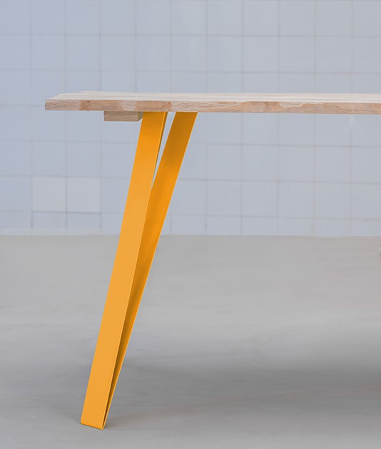 Graf k fabricant de pieds de table et plateau en bois design for Table bois metal design