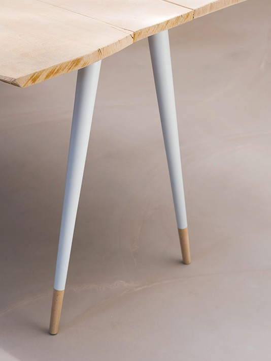 Pied de table blanc bage t 2 fabricant de pieds de table design for Pied table design