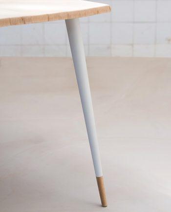 pieds de table basse en bois massif style scandinave