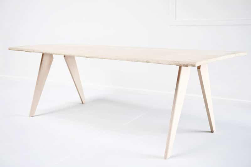 Croissant table-pied-bois-compas-jean-prouve : Fabricant de Pieds de Table NG-87