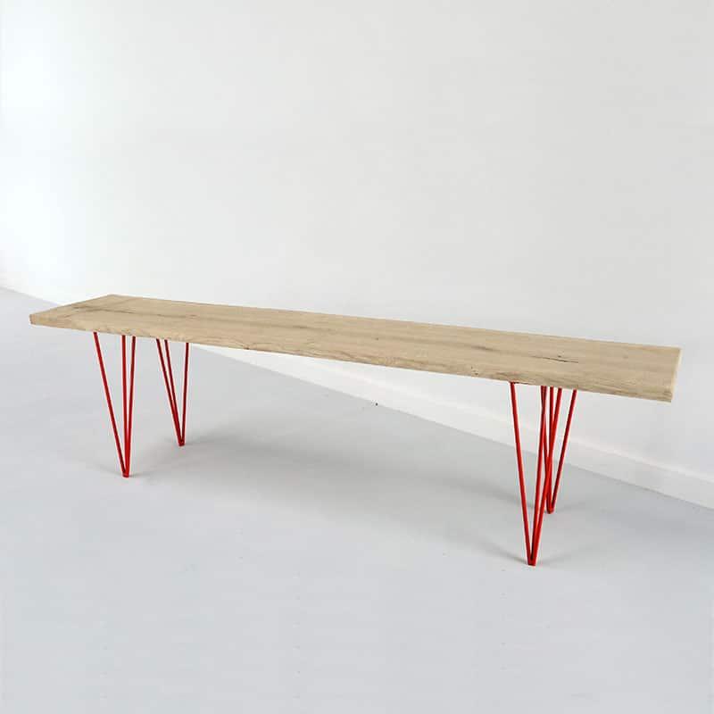 T starr fabricant de pieds de table et plateau en bois - Table en bois pied noir ...
