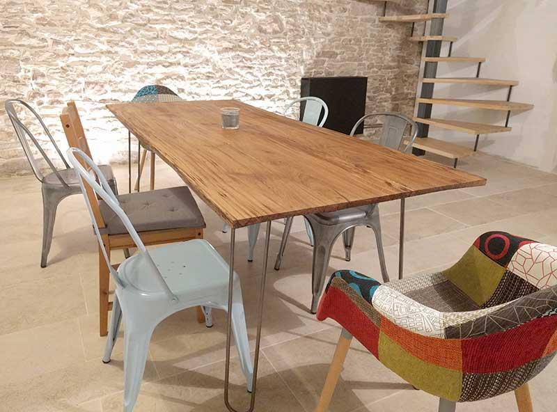 loop fabricant de pieds de table et plateau en bois design. Black Bedroom Furniture Sets. Home Design Ideas