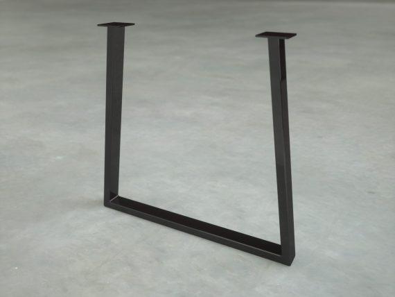 pied de table noir mat charbon