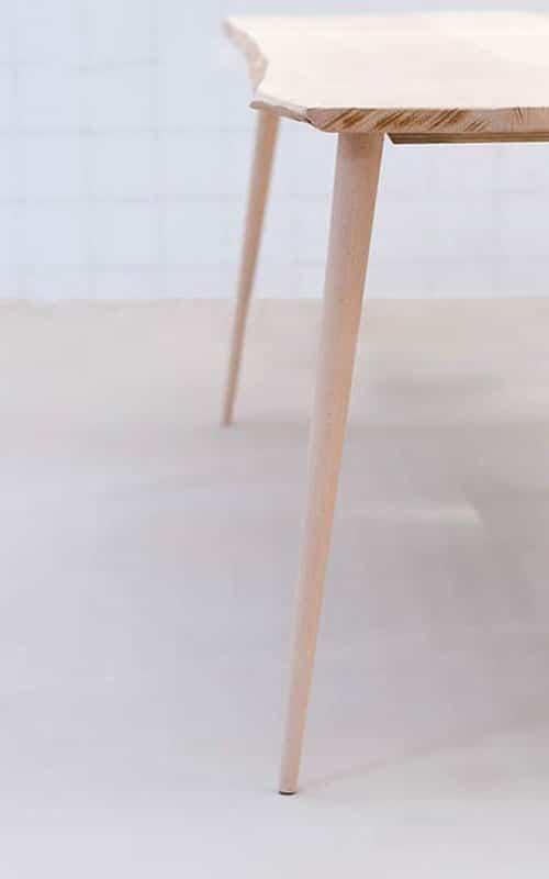 pieds de table bois massif STIC