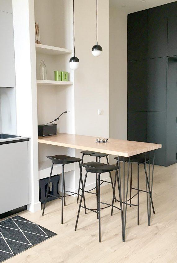 Pied noir pour ilot bar cuisine loft