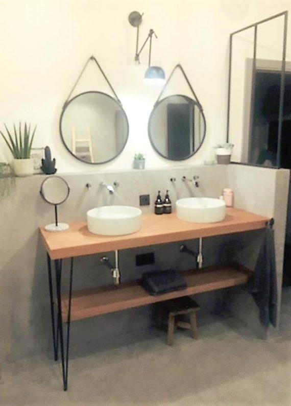 pied metal en fil TSTAR pour meuble salle de bain