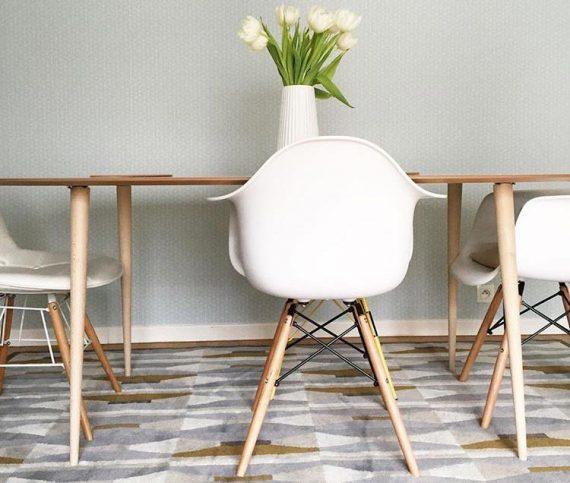 pied en bois pour table style scandinave