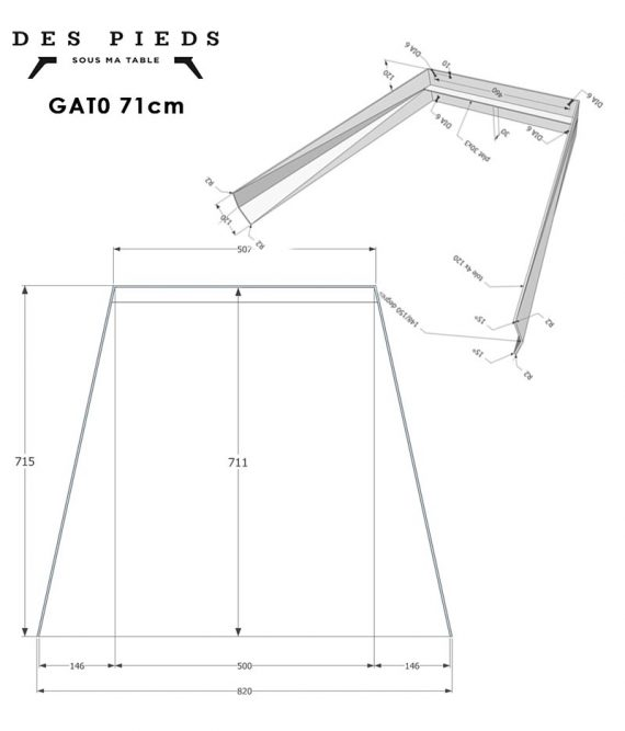 Plan Treteau metal GAT0