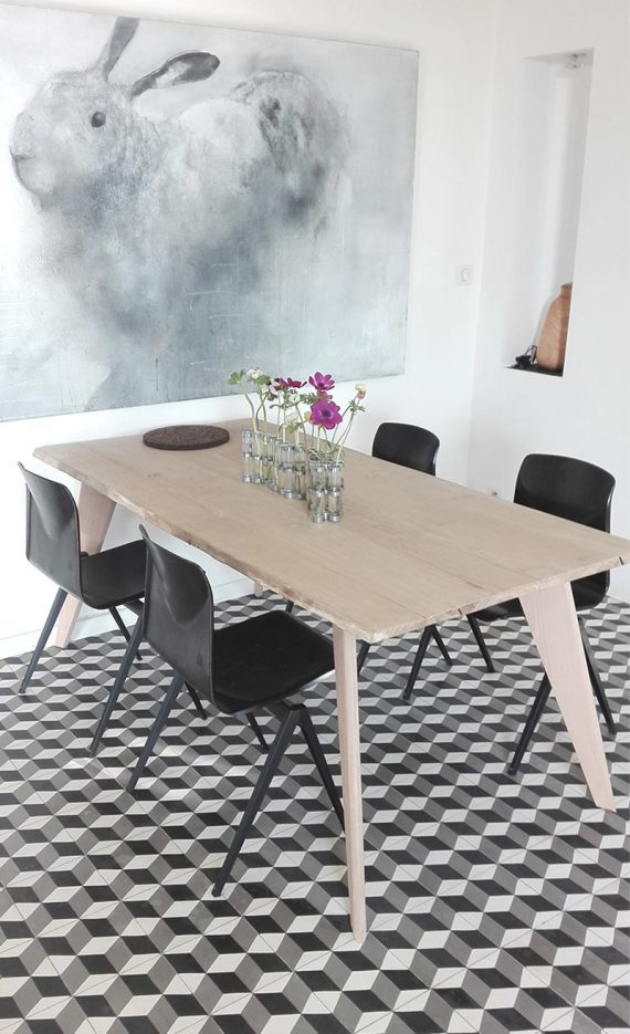 4 pieds de table design PROOW en hêtre